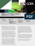 NIEA-COFA Le Grice Lecture_2 Nov