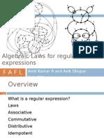 Algebraic Laws for Regular Epxressions