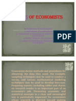 Roles of Economists