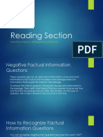 Reading Section-Negative Facutal Infromation Questions