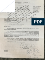 Walter Currie letter