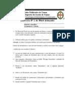Instituto Politécnico de Tomar_Exercicio