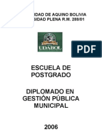 Diplomado en Gestión Pública Municiapal UDABOL