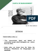 Ethos of Vedanta in Management