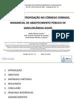 ANALISE_DA_ANTROPIZACAO_NO_CORREGO_CERRADO_MANANCIAL_DE_ABASTECIMENTO_PUBLICO_DE_SANCLERLANDIA-GOIAS.pptx