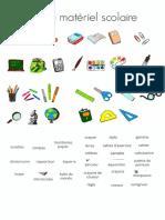 Material escolar en francés