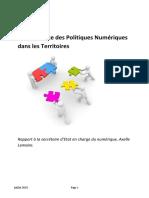 Rapport Gouvernance Numerique Sur Les Territoires