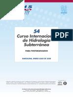 54º Curso Internacional de Hidrología Subterránea (2020)