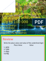 MATH Q1 Lesson 3 Place Value and Value of a Digit in Numbers Up to 100 000 Marvietblanco