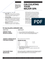 15-2015 Calculating Your Major Gpa Handout Final