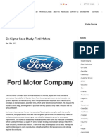 Six Sigma Case Study_ Ford Motors