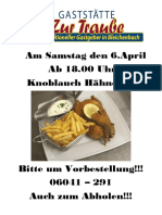 Knoblauch Hähnchen 2019