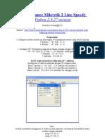 Load Balance Mikrotik 2 Line Speedy Winbox 2.9.27 Version