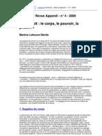 Foucault Le Corps Le Pouvoir La Prison