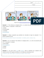 Atividades com conjunções