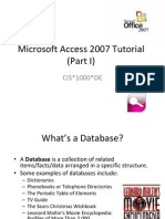 Access 2007 Tutorial 1