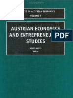 Koppl Ed. - Austrian Economics and Entrepreneurial Studies (