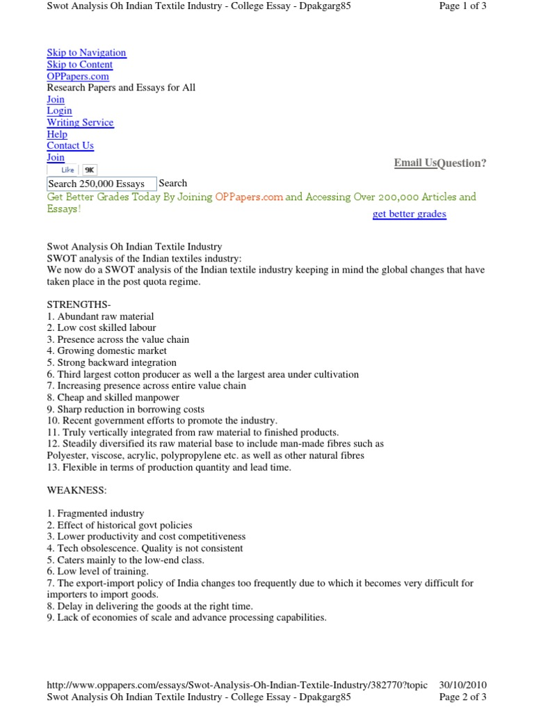 Modest Proposal Essay Ideas Awot Anay Textile Industry Textiles V Awot Anay Www Oppapers  Com Essays Help Www Oppapers Com Essays Help Businessman Essay also Theme For English B Essay Www Oppapers Com Essays Help Random Essay Topic Comparing And  Wonder Of Science Essay
