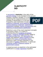 Elasticity Demand