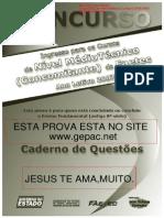 Prova FAETEC Concomitante 2007