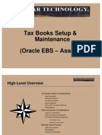 Tax Books Setup Maintenance