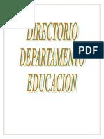 Directorio Telefónico del Departamento de Educación de Puerto Rico