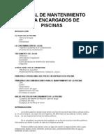 Piscinas - Manual de Mantenimiento Para Encargados