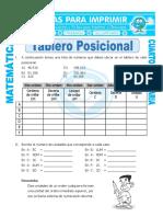 Ficha Tablero Posicional Para Cuarto de Primaria
