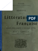Histoire Littéraire