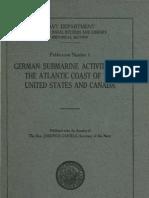 WWI U-Boats Atlantic Report I