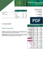 Informe Económico Mensual - Marzo 2019