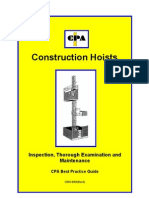 Construction Hoists Maintenance and Inspection
