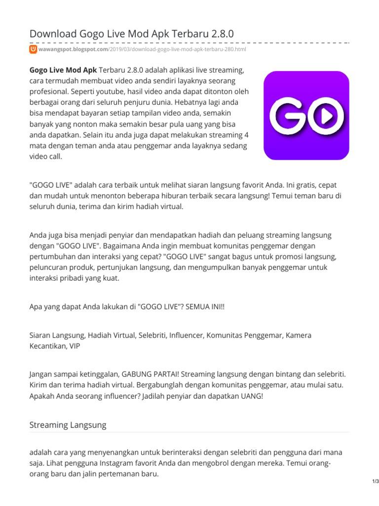 Gogo Live Mod Apk Download