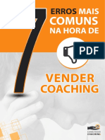7 Erros Comuns Na Hora de Vender Coaching - E-book Gratuito