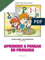 Aprender a pensar en Primaria - Blanca Gómez.pdf