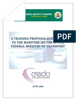A Training Proposal Submitted to the Maritime Sector of the Fmt