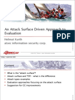 An Attack Surface Driven Approach to Evaluation
