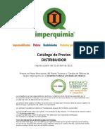 Catalogo de Precios Distribuidor Planta 01 Abril 2019