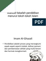 Maksud Falsafah Pendidikan Menurut Tokoh-Tokoh Islam