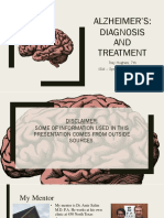 alzheimers - diagnosis and treatment  final draft