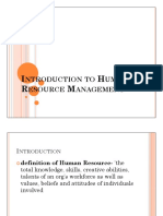 1. Introduction to Human Resource Management