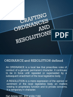 Crafting Ordinances & Resolutions