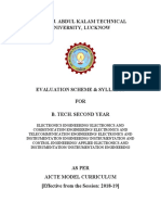 b.tech Ec Ei 2nd Year 2018-19
