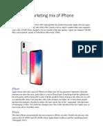 Marketing mix of IPhone.docx