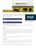 Comparison of Fixed Time Artificial Insemination vs Natural Service in Beef Cows Reproductive Efficiency and System Cost