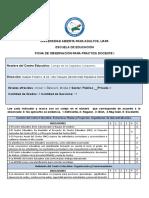 Ficha Estandarizada de Observacion Practica Docente i