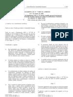 Residuos de Medicamentos - Legislacao Europeia - 2002/01 - Reg nº 77 - QUALI.PT