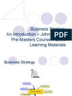 Business Strategy Pre Master an Introduction