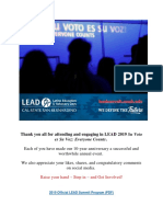 LRL Watch LEAD Summit X - Su Voto Es Su Voz Everyone Counts