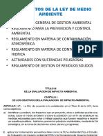 Reglamentos de La Ley de Medio Ambiente